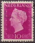 Sellos de Europa - Holanda -  Holanda 1947 Scott 292 Sello Reina Guillermina 10c usado Netherland
