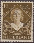 Sellos de Europa - Holanda -  Holanda 1948 Scott 304 Sello Reina Juliana 10c usado Netherland