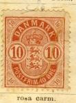 Stamps Europe - Denmark -  Escudo Real