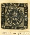 Sellos del Mundo : Europa : Dinamarca : Escudo Real 1853