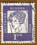 Stamps Germany -  RETRATOS- Von Droste Hulshoff