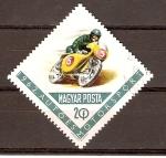 Stamps Hungary -  COMPETENCIA  DE  MOTOCICLETAS