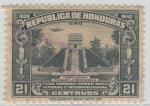 Stamps America - Honduras -  Templo Maya - Parque la Concordia