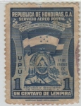 Stamps of the world : Honduras :  Escudo y Bandera Nacional
