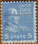 Stamps United States -  James Monroe