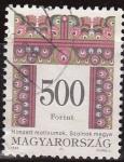 Stamps Hungary -  Hungria 1994 Scott 3478 Sello Diseños Folkloricos usado 500f Ungarn Hungary Hongrie Ungheria Hongari