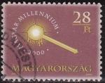 Sellos de Europa - Hungría -  Hungria 2000 Scott 3681 Sello Millennium usado 28ft Ungarn Hungary Hongrie Ungheria Hongarije