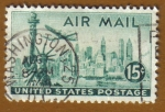 Stamps America - United States -  New York Sky Line
