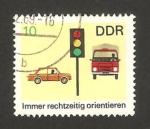 Stamps of the world : Germany :  1141 - prevención contra los accidentes de circulación, semáforo