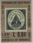 Stamps Honduras -  1° Sello Ordinario