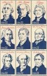 Stamps America - United States -  PRESIDENTES DE LOS ESTADOS UNIDOS