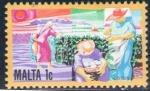 Stamps Europe - Malta -  MALTA 1981 Sello Nuevo * Agricultores Arando las Tierras sin goma