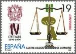 Stamps Spain -  IV CENTENARIO DEL ILUSTRE COLEGIO DE ABOGADOS DE MADRID
