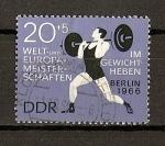 Sellos de Europa - Alemania -  DDR Campeonato del Mundo de Pesas