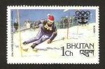 Sellos del Mundo : Asia : Bhután :  olimpiadas de invierno en innsbruck 76, slalom