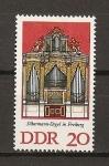 Stamps : Europe : Germany :  DDR Organos de Silbermann