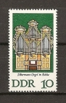 Stamps Germany -  DDR Organos de Silbermann