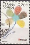 Sellos de Europa - España -  ESPAÑA 2003 3959 Sello Dia Mundial de la Lepra Margarita Logotipo usado Espana Spain Espagne Spagna