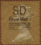 Sellos de Europa - Reino Unido -  Serie Básica - adhesivo Isabel II  en sello