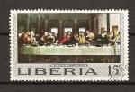 Stamps Africa - Liberia -  Santa Cena / Leonardo da Vinci