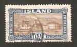Stamps Europe - Iceland -  Vista de Reykjavik