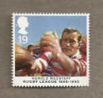 Stamps United Kingdom -  Jugadores Rugby