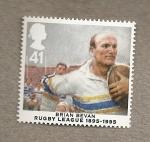 Sellos de Europa - Reino Unido -  Jugadores Rugby