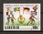 Sellos del Mundo : Africa : Liberia : Mundial de Futbol España 82