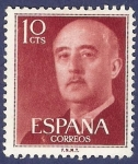 Stamps Spain -  Edifil 1143 Serie básica Franco 0,10