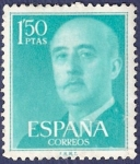 Stamps Spain -  Edifil 1155 Serie básica Franco 1,50