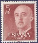 Sellos de Europa - España -  Edifil 1160 Serie básica Franco 5