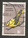 Sellos del Mundo : Africa : Botswana : Pájaro Golden Oriole
