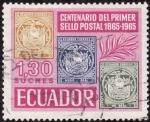 Sellos de America - Ecuador -  Centenario del Primer sello de Ecuador