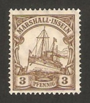 Stamps Oceania - Marshall Islands -  barco imperial hohenzollern