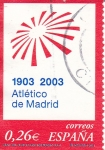 Stamps Spain -  1903-2003 Atletico de Madrid