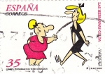 Stamps Spain -  Las Hermanas Gilda. Vazquez