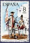 Stamps of the world : Spain :  Edifil 2201 Abanderado regimiento Zamora 8