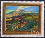 Sellos de Europa - Italia -  Italia 1977 Scott 1261 Sello Europa CEPT Paisajes Vista del Etna Usado