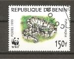 Sellos del Mundo : Africa : Benin :  Python Regius