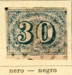 Sellos de America - Brasil -  Numerico Ed. 1850