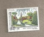Stamps Italy -  Jardines históricos públicos