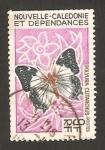 Stamps Oceania - New Caledonia -  mariposa, polyura clitarchus