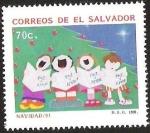 Sellos del Mundo : America : El_Salvador : PAZ Y AMOR