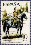 Stamps Spain -  Edifil 2240 Dragón del regimiento de Sagunto 10