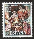Stamps Spain -  NACIMIENTO, ( SALZILLO )