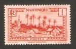 Stamps France -  Martinica - pueblo de basse pointe