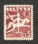 Stamps : Europe : Lithuania :  libertad, un caballero