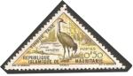 Stamps Africa - Mauritania -  fauna, grue cendree