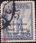 Stamps America - Ecuador -  Seguro Social del campesino