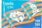 Stamps Spain -  Centenario U.D. Levante 1009-2009